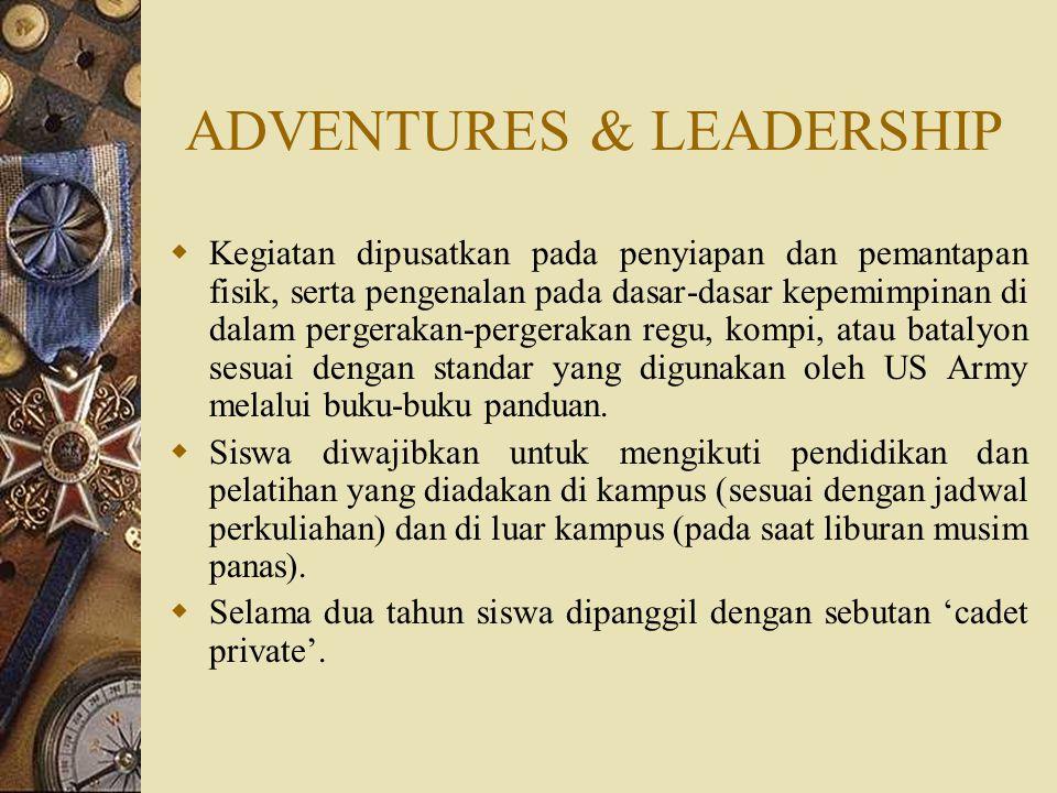ADVENTURES & LEADERSHIP