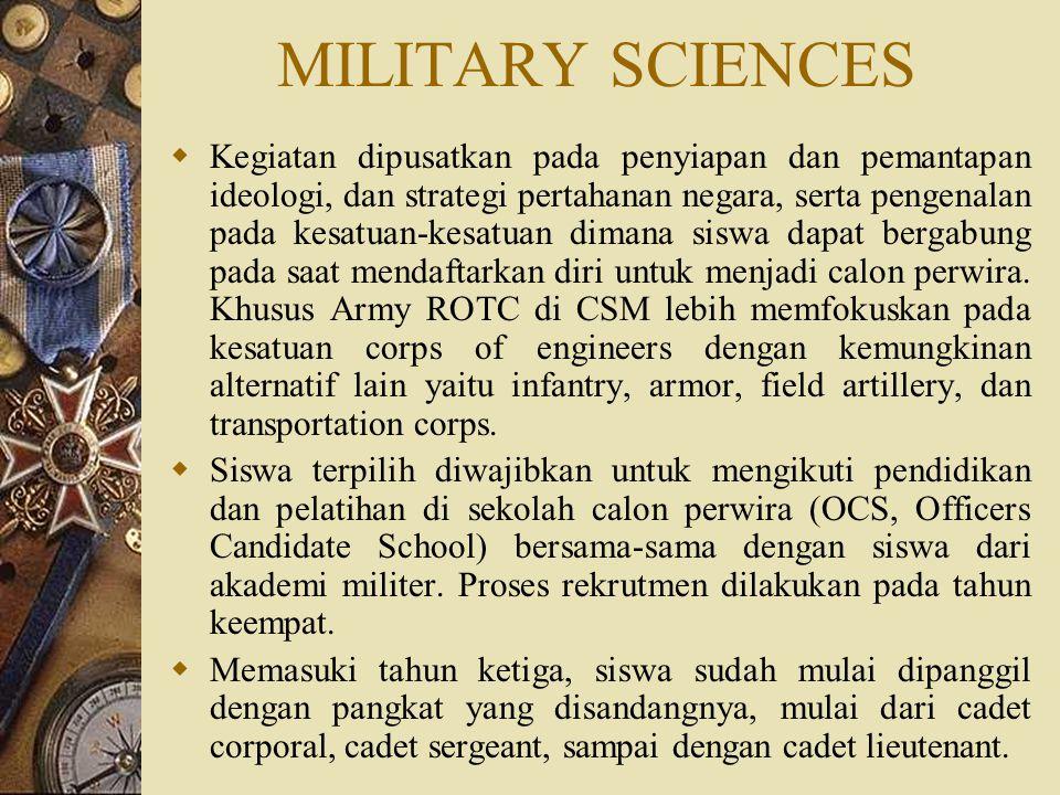 MILITARY SCIENCES