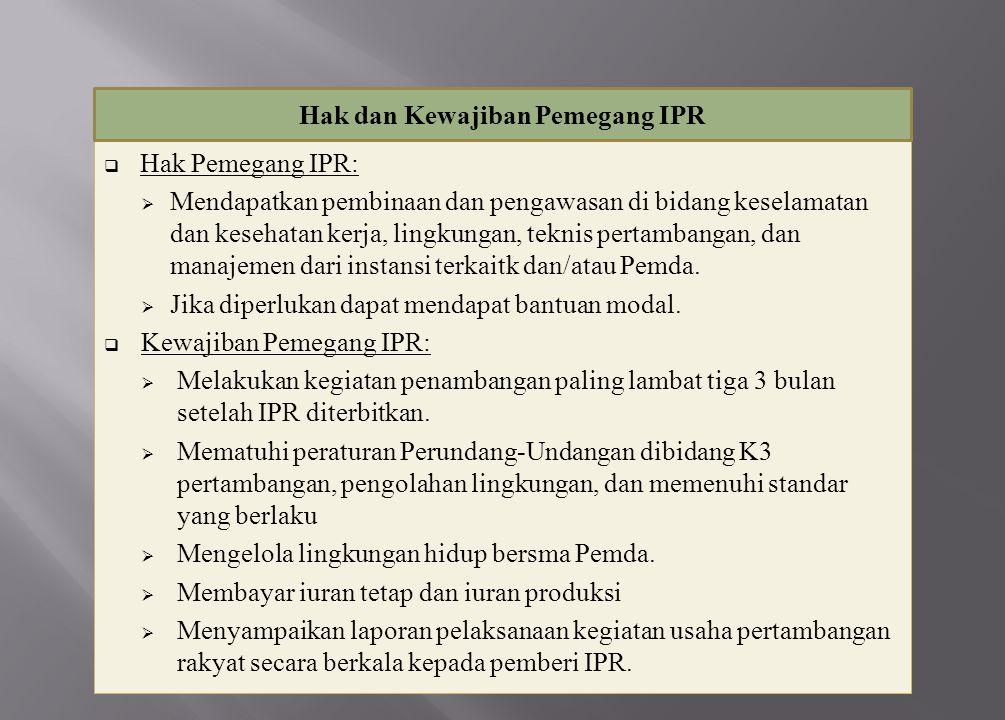 Hak dan Kewajiban Pemegang IPR