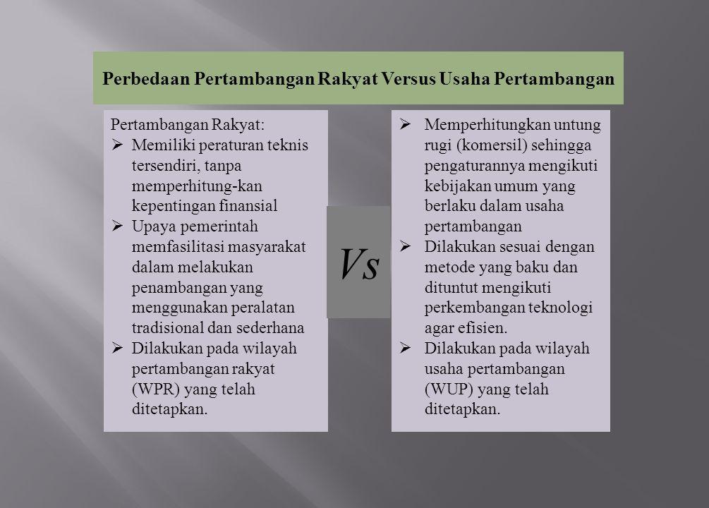 Perbedaan Pertambangan Rakyat Versus Usaha Pertambangan