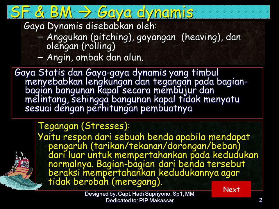 SF & BM  Gaya dynamis Gaya Dynamis disebabkan oleh: