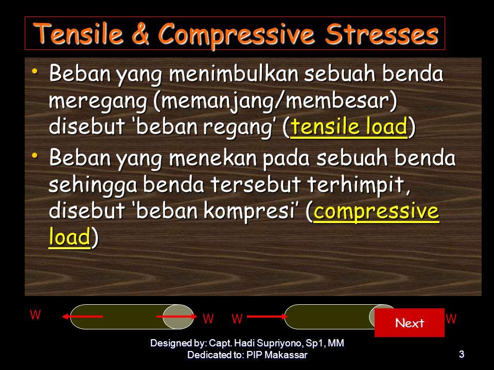 Tensile & Compressive Stresses