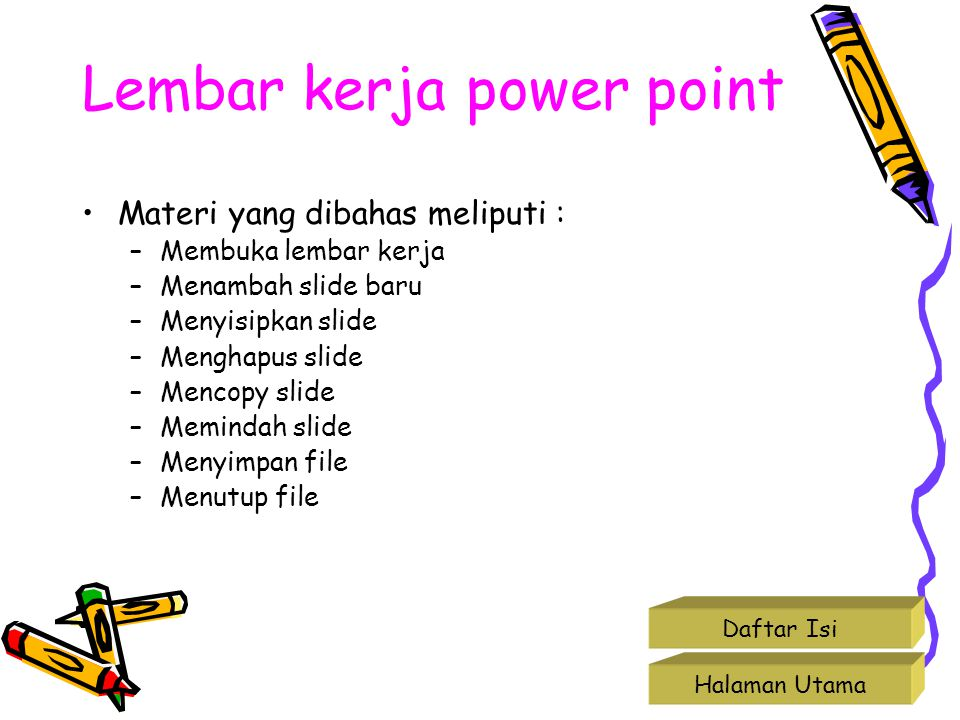 Lembar kerja power point