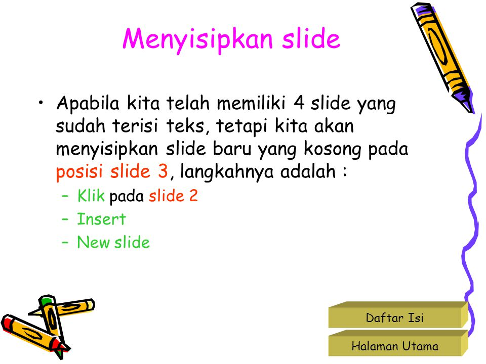 Menyisipkan slide