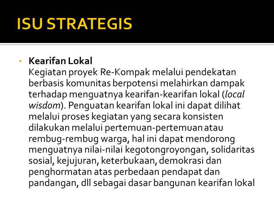 ISU STRATEGIS Kearifan Lokal