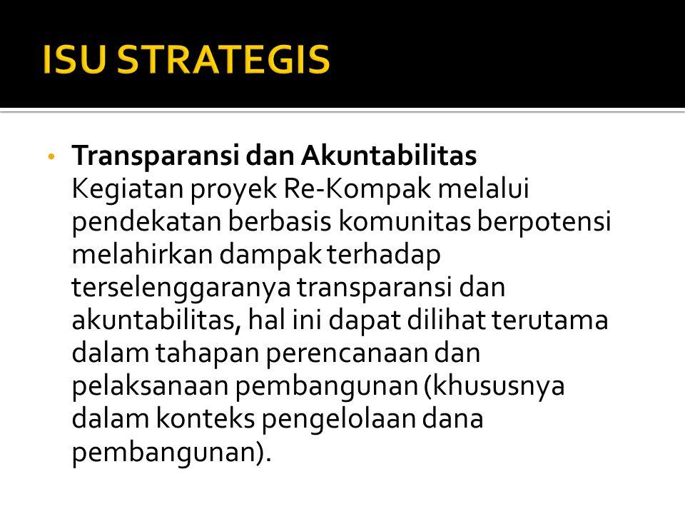 ISU STRATEGIS Transparansi dan Akuntabilitas