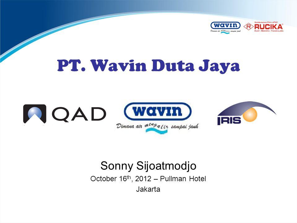 Sonny Sijoatmodjo October 16th, 2012 – Pullman Hotel Jakarta
