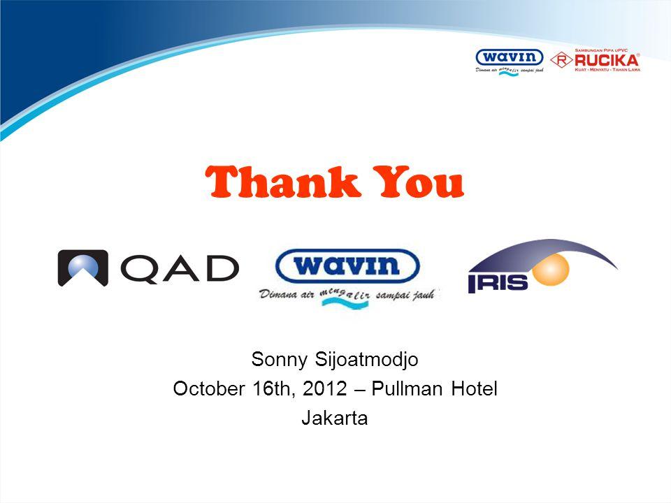 October 16th, 2012 – Pullman Hotel