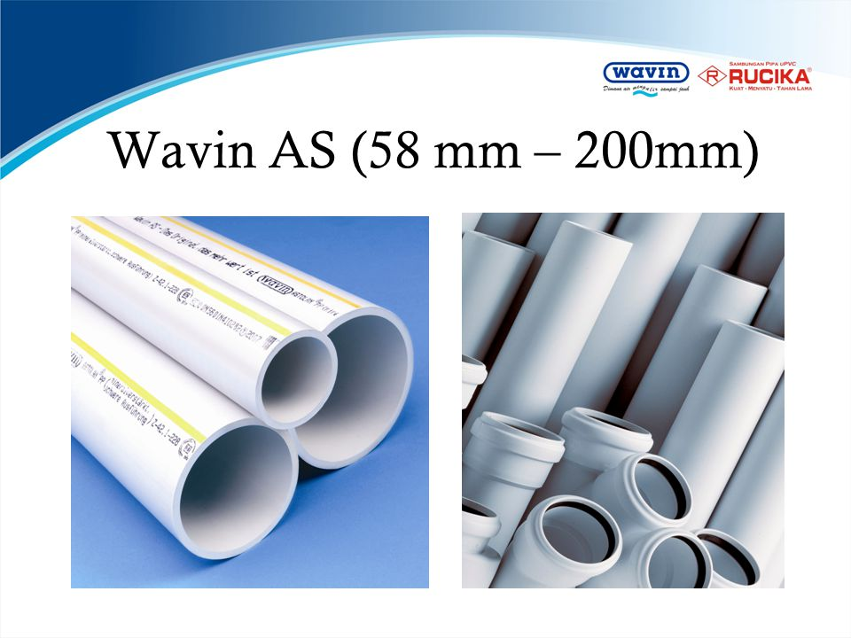 Wavin AS (58 mm – 200mm)