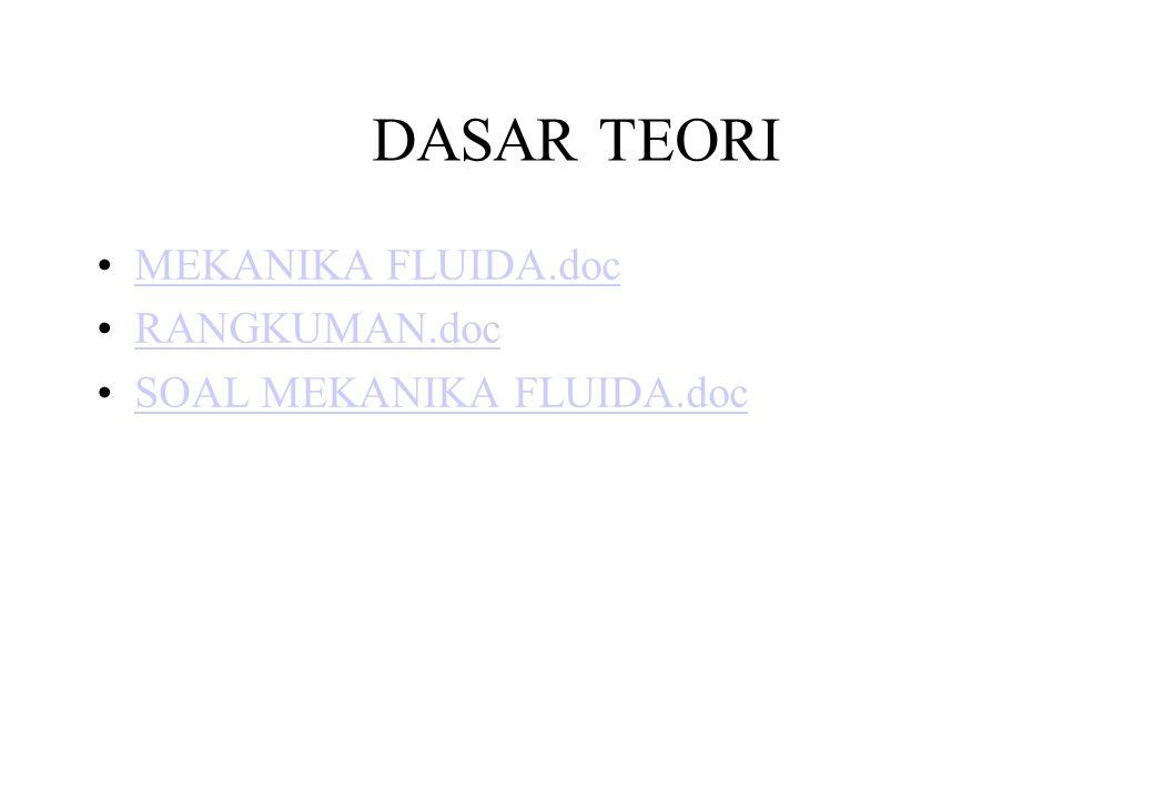 DASAR TEORI MEKANIKA FLUIDA.doc RANGKUMAN.doc SOAL MEKANIKA FLUIDA.doc
