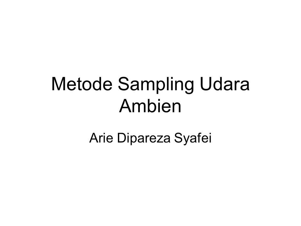 Metode Sampling Udara Ambien