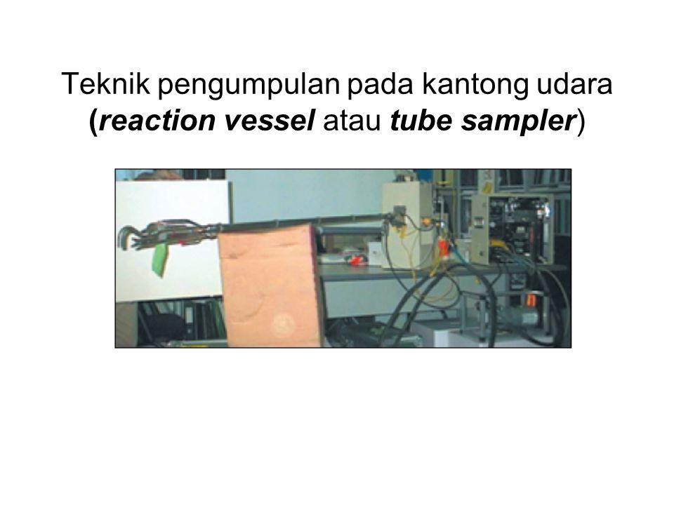 Teknik pengumpulan pada kantong udara (reaction vessel atau tube sampler)