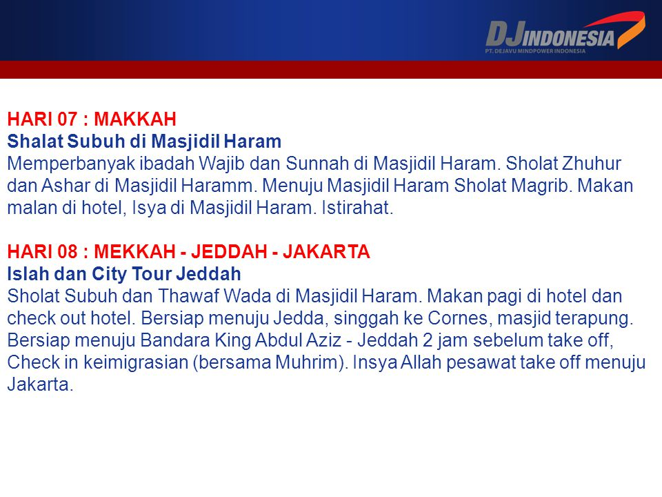 HARI 07 : MAKKAH Shalat Subuh di Masjidil Haram.