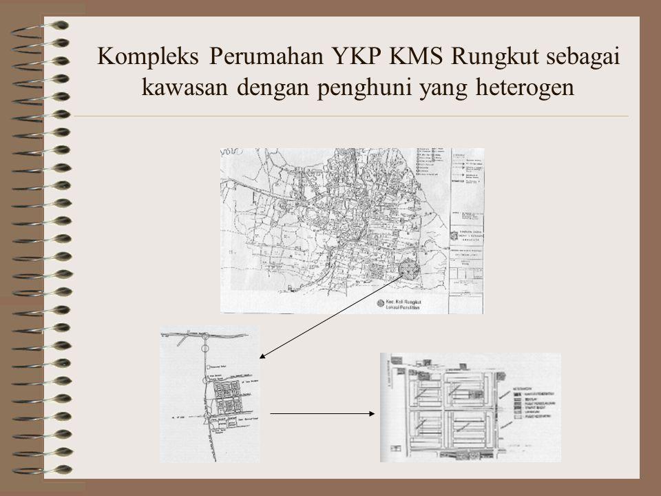 Kompleks Perumahan YKP KMS Rungkut sebagai kawasan dengan penghuni yang heterogen