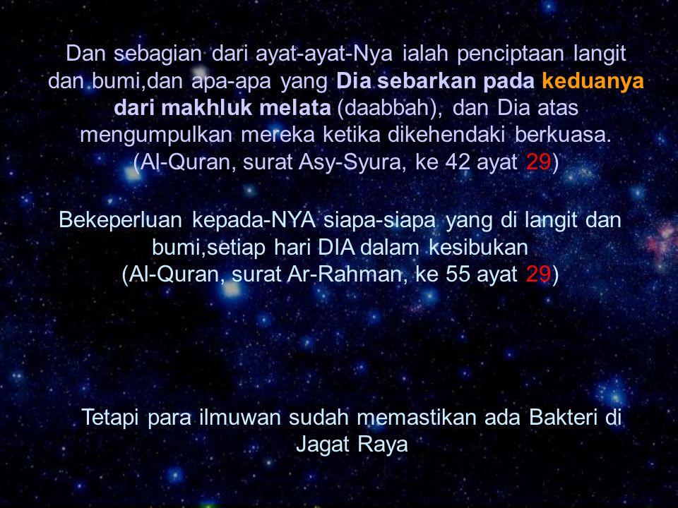 (Al-Quran, surat Asy-Syura, ke 42 ayat 29)
