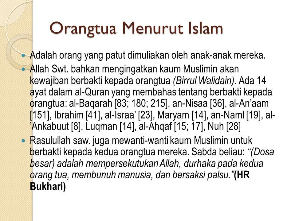 Orangtua Menurut Islam