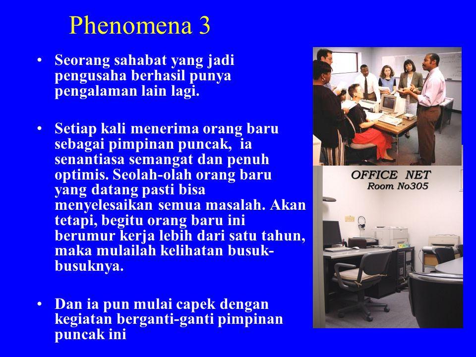 Phenomena 3 Seorang sahabat yang jadi pengusaha berhasil punya pengalaman lain lagi.