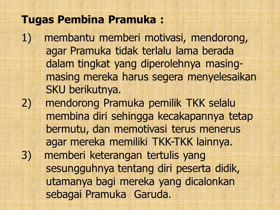 Tugas Pembina Pramuka :