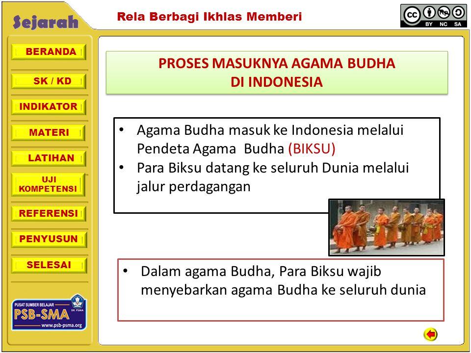 PROSES MASUKNYA AGAMA BUDHA