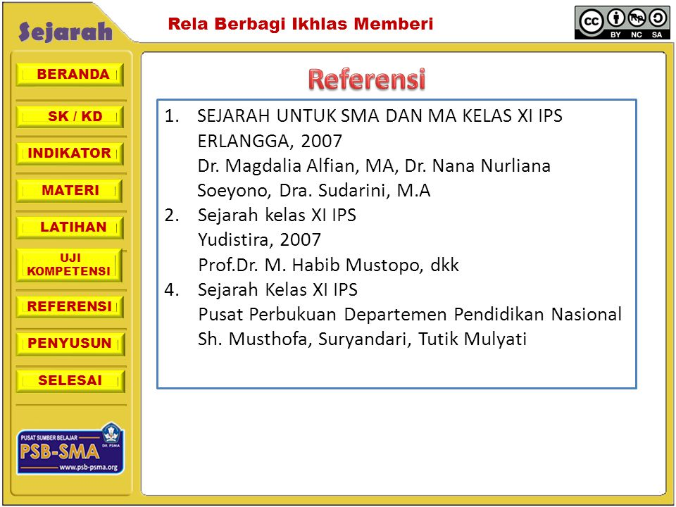 Referensi SEJARAH UNTUK SMA DAN MA KELAS XI IPS ERLANGGA, 2007