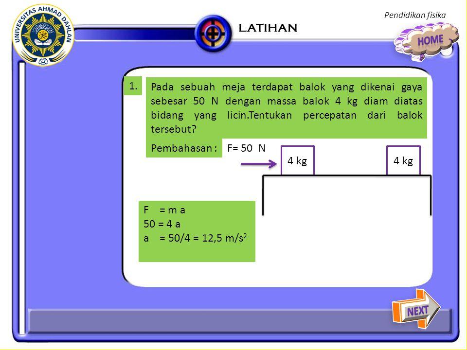 Pendidikan fisika LATIHAN. HOME. 1.