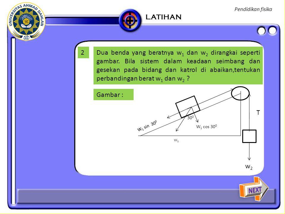 Pendidikan fisika LATIHAN. 2.