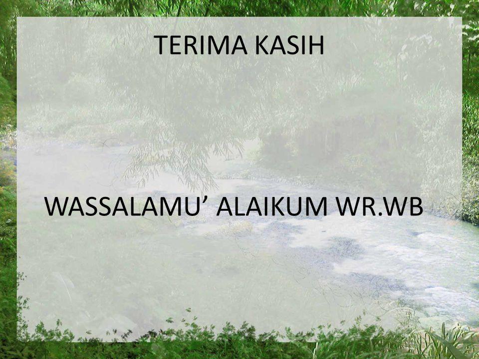 WASSALAMU' ALAIKUM WR.WB