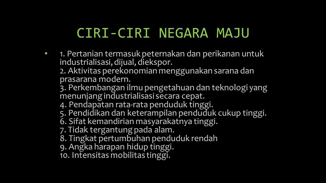 CIRI-CIRI NEGARA MAJU
