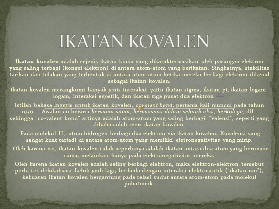 IKATAN KOVALEN