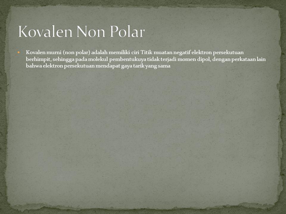 Kovalen Non Polar