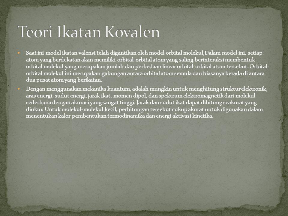 Teori Ikatan Kovalen