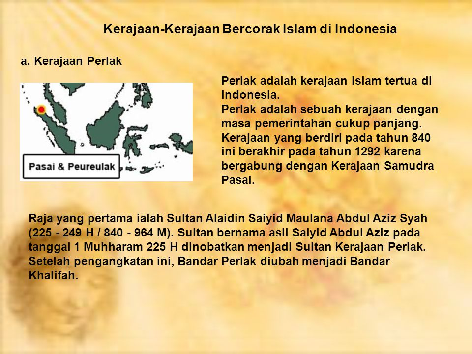 Kerajaan-Kerajaan Bercorak Islam di Indonesia