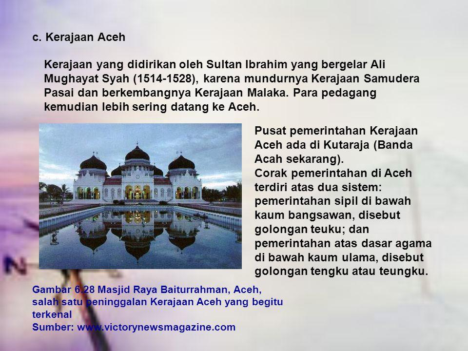 c. Kerajaan Aceh
