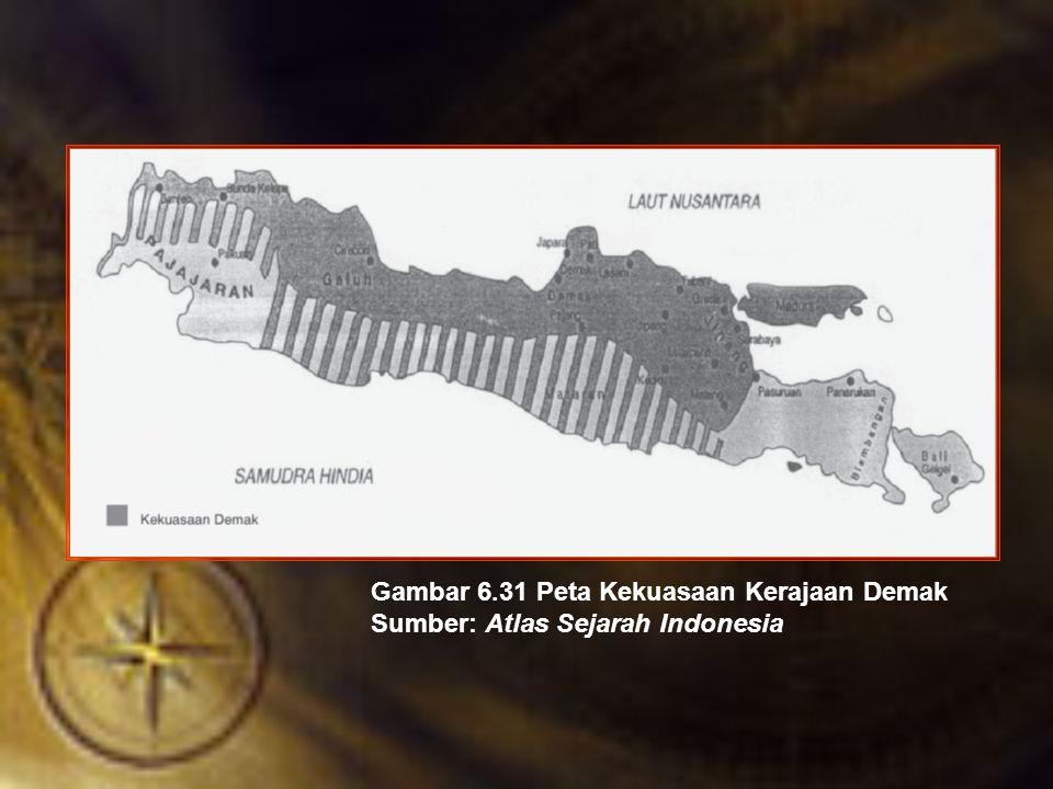 Gambar 6.31 Peta Kekuasaan Kerajaan Demak