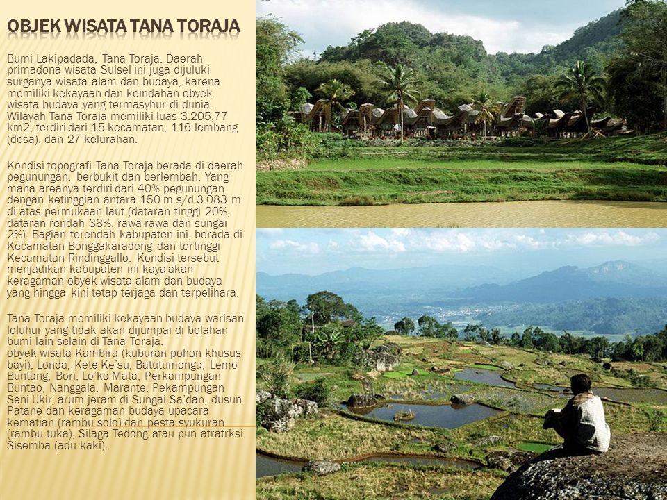 Objek Wisata Tana Toraja