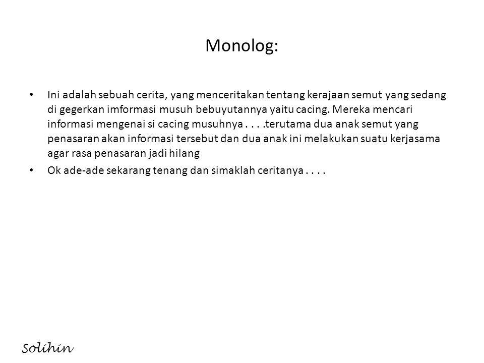Monolog: