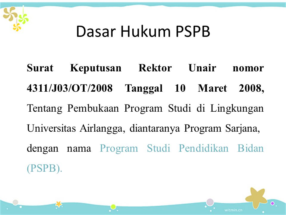 Dasar Hukum PSPB
