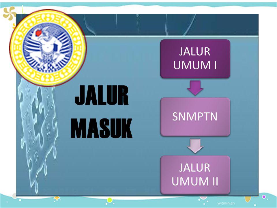 JALUR UMUM I SNMPTN JALUR UMUM II JALUR MASUK