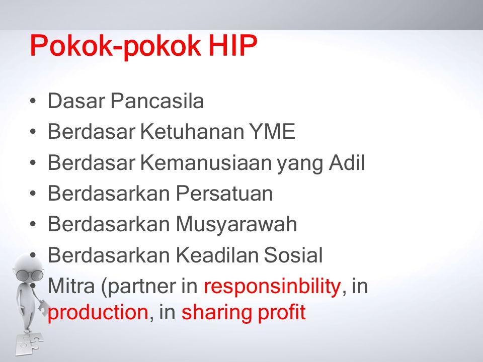 Pokok-pokok HIP Dasar Pancasila Berdasar Ketuhanan YME
