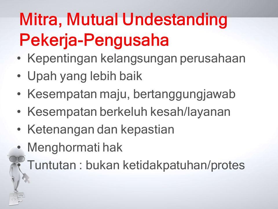 Mitra, Mutual Undestanding Pekerja-Pengusaha
