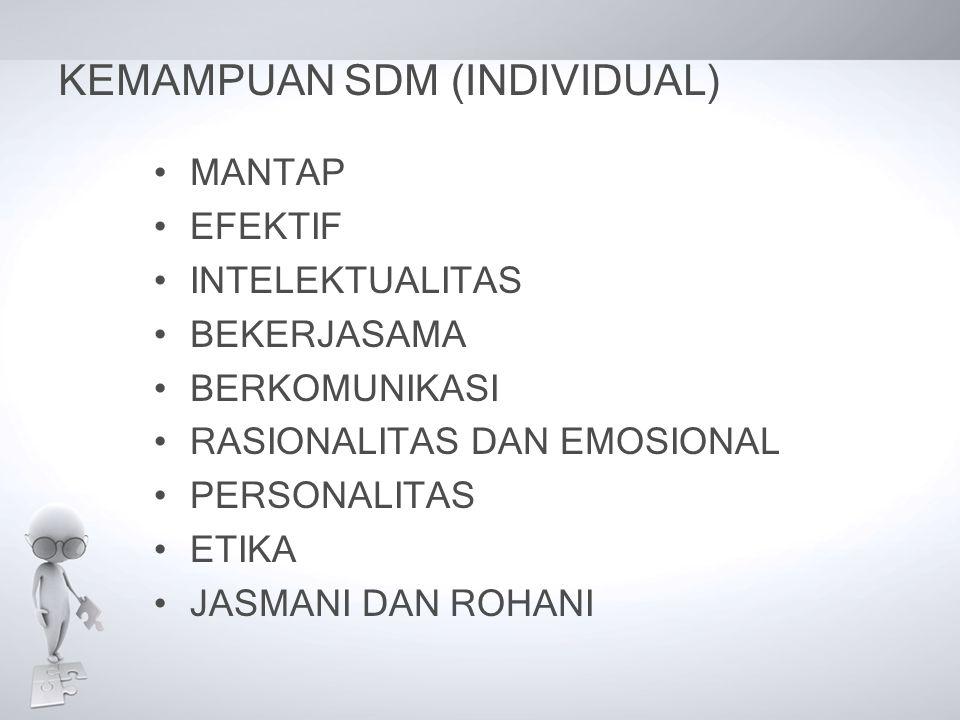KEMAMPUAN SDM (INDIVIDUAL)