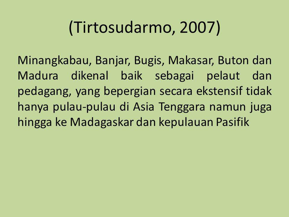 (Tirtosudarmo, 2007)