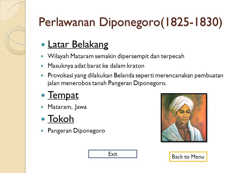 Perlawanan Diponegoro(1825-1830)