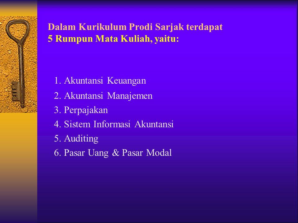 Dalam Kurikulum Prodi Sarjak terdapat 5 Rumpun Mata Kuliah, yaitu: