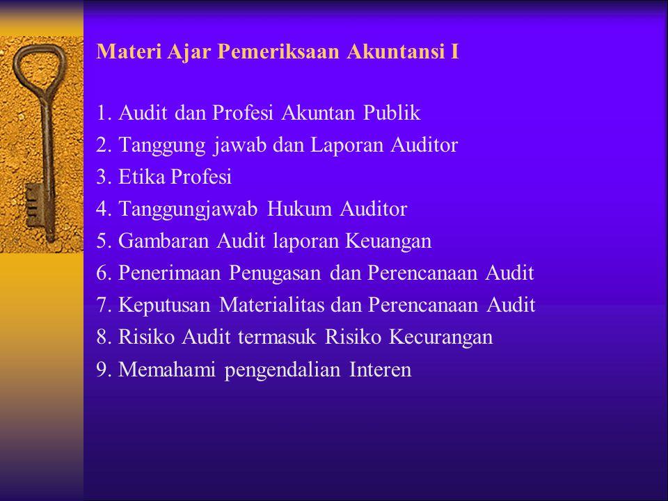 Materi Ajar Pemeriksaan Akuntansi I