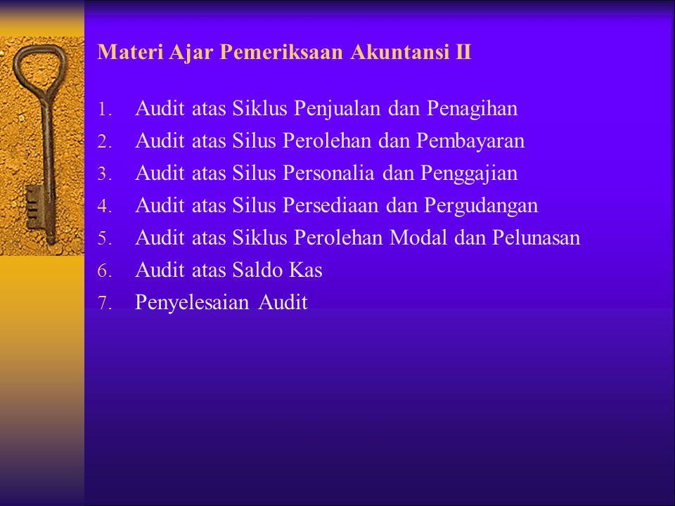 Materi Ajar Pemeriksaan Akuntansi II