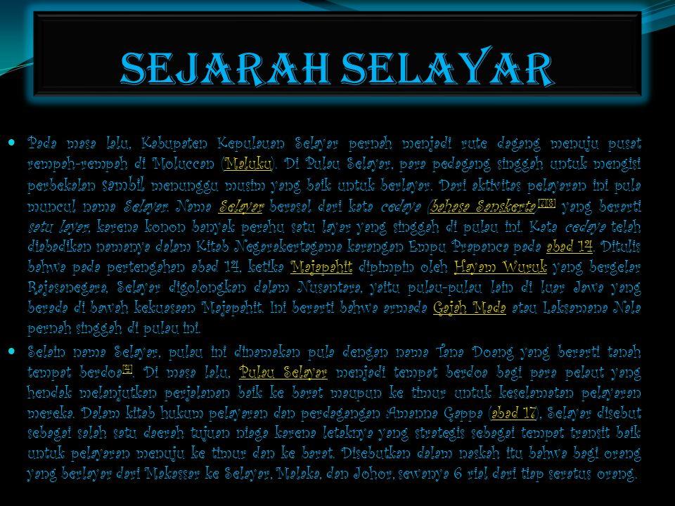 SEJARAH SELAYAR
