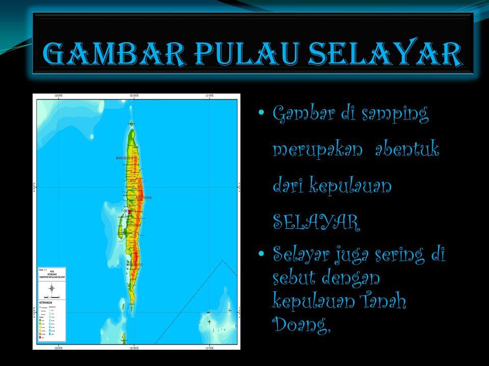 Gambar pulau selayar Gambar di samping merupakan abentuk dari kepulauan SELAYAR.