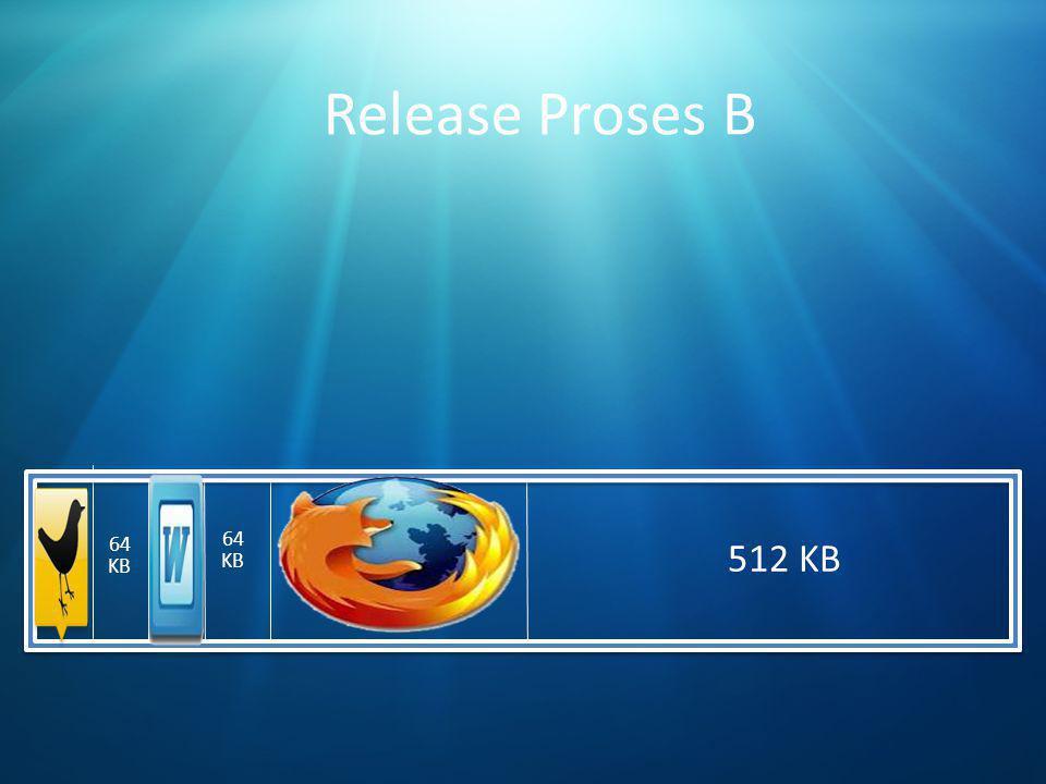 Release Proses B 64 KB 64 KB 512 KB