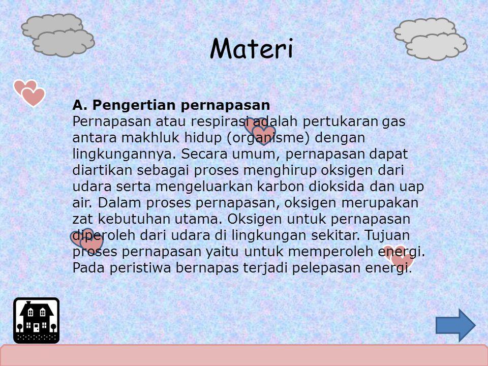 Materi A. Pengertian pernapasan